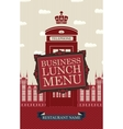 business lunches menu vector image vector image