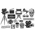 cinema and cinematography set objects vector image vector image