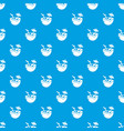 coconut cocktail pattern seamless blue vector image