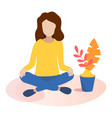 concept of meditation in flat vector image