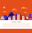 cozy town modern flat design vector image
