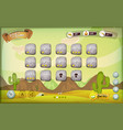 desert game user interface design for tablet vector image vector image