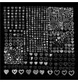 doodle hearts icon set hand drawn design vector image vector image