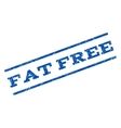 Fat Free Watermark Stamp vector image vector image