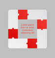 four red pieces puzzle infographic 4 steps vector image vector image