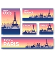France landscape banners set design vector image