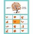 Funny foxes Design calendar 2017 vector image vector image