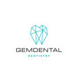 gems dental logo for dentist and dentistry vector image vector image