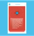 global network mobile vertical banner design vector image
