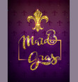 golden lily silhouette symbol festival mardi gras vector image vector image