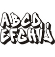 Graffiti font part 1 vector | Price: 1 Credit (USD $1)