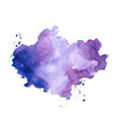 hand painter colors watercolor stain texture vector image vector image