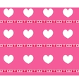 Heart seamless pattern Valentines Day endless vector image