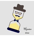 Hipsters hourglass vector image vector image