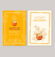 honey vintage banners design engraved sea vector image