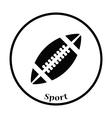 Icon of American football ball vector image vector image