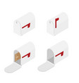 mailbox isometric view vector image