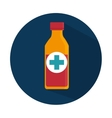 medicine bottle isolated icon vector image vector image