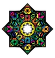 Multicolor mandala from a variety of bright vector image vector image