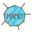 nano molecular structure in color crayon vector image vector image