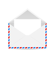 Open envelope with blank forms vector image