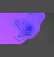 paper cut purple design vector image