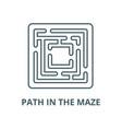 path in maze line icon linear concept vector image