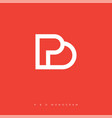 pd monogram vector image vector image