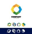 Polygon hexagon corporate logo vector image vector image