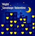 postcard for valentines day the night of lovers vector image