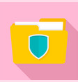 protected folder icon flat style vector image