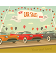 Retro car sale vector image vector image