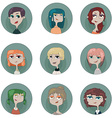 round girl 3 vector image vector image