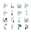 Scientist Decorative Icons Set vector image vector image