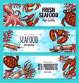 seafood and fish sea product banners vector image