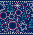seamless christmas ornamental decor pattern vector image