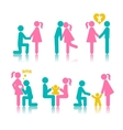 Set of icons stages of creating a family vector image