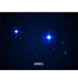 Set of Symbol Zodiac Aries vector image