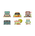 shop store buildings set vector image