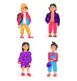 stylish children concept child in casual outfit vector image vector image