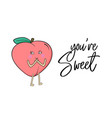 sweet peach poster nectarine summer fruit vector image