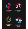 Thunderbolt icon set Thunderbolt business logo vector image