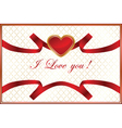 valentines background with heart vector image vector image