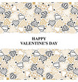valentines day card with ornament decorative vector image vector image
