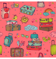 Vintage hand drawn suitcases background