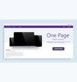 website template for websites or apps modern vector image