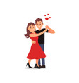 young couple of lovers in dancing action woman in vector image vector image