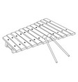 isolated xylophone outline vector image