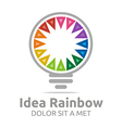 Logo Idea Rainbow Light Colorful Symbol Design vector image