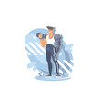 a young sports guy is engaged in gym athletic vector image vector image